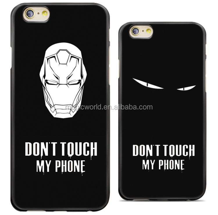 Do Not Touch My Phone TPU Print Funny Phone Case For iPhone 7