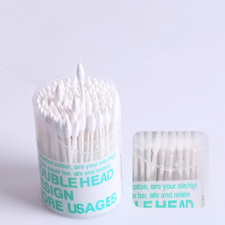 200pcs bastoncillos de algod/ón puntas dobles maquillaje multifunci/ón bastoncillos de algod/ón