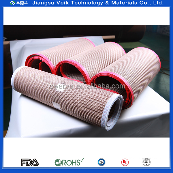 PTFE open mesh belt without bullnose