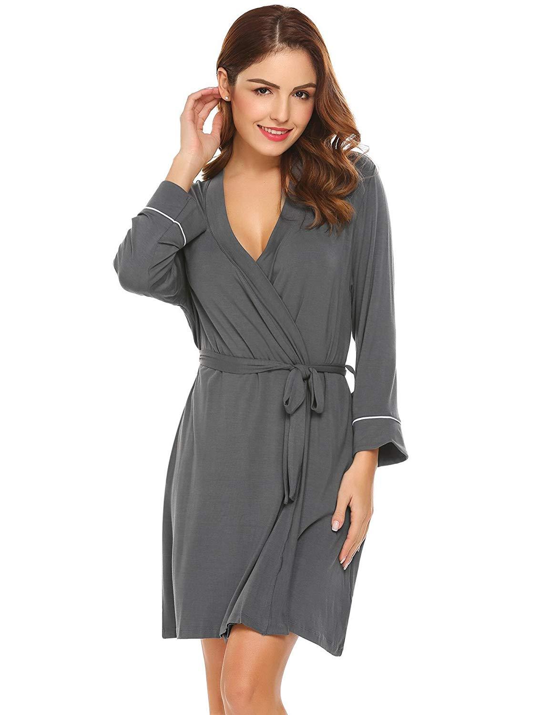 19e20063a0 Get Quotations · Diaper Women Robe Black Bath Robe Women Cotton Night Robe  Women Cotton Robes