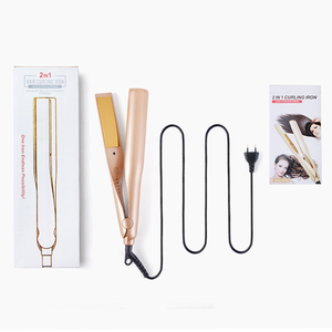 2019 Tourmaline Ceramic Flat Iron for All Hair Types with Rotating Adjustable Temperature Hair Straightener
