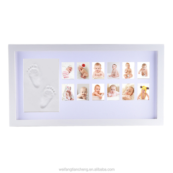 My First Year Best Baby Photo Frame with Handprint and Footprint Clay