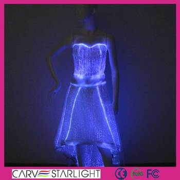 fibra Óptica luminosa luz hermoso vestido de novia - buy vestido de