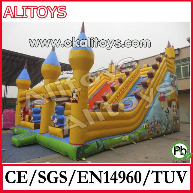 big giant slide inflatables,inflatable park slide,inflatable pvc slides