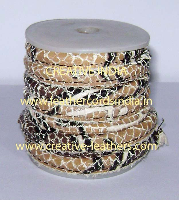 3.0mm Reptile Stitched Leather Cords