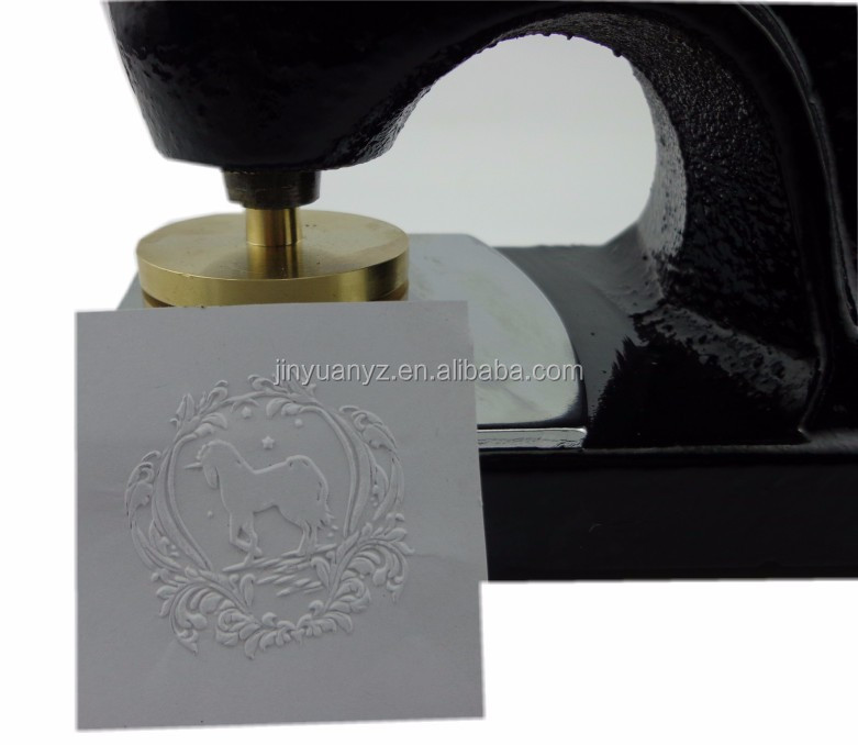 High quality portable office use common logo design seal stamp metal embossing stamp