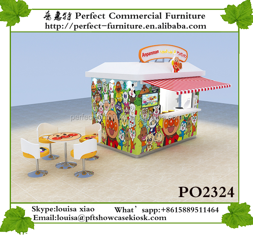 2017 new Movable coffee shop container mobile food booth kiosk / outdoor food kiosk