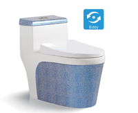 Newest water-saving one piece white cheap toilet bowl