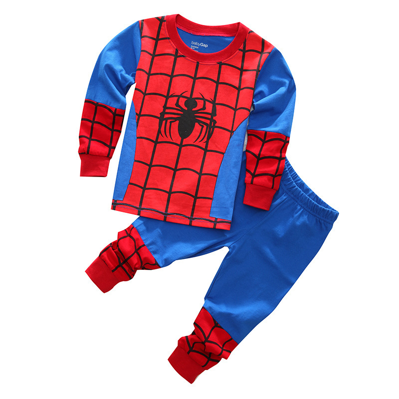 Free Shipping Clothes Set Boys Kids Pajama T shirt+Pants 2PCS/Set Cartoon Children Pyjamas Baby Toddler Sleepwear for 2T-7T year