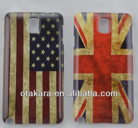 The popular flag pattern moblie phone case for samsung note3