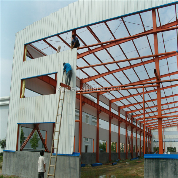 China Low Price Prefabricated Steel Warehouse With Crane