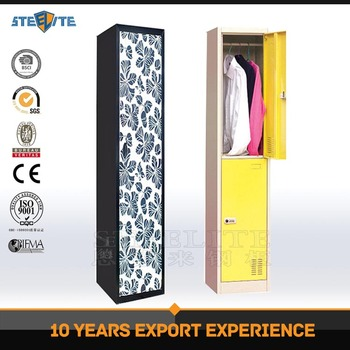 Tall Thin Vertical Name Tag Assembled Metallic Waterproof Key Boys Locker  Room Bedroom Furniture Steel Locker