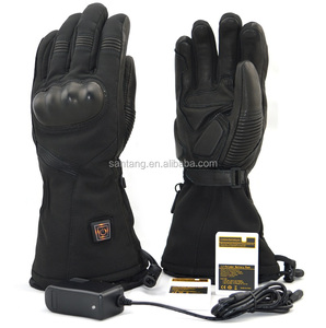 7.4V 2200mAh Rechargeable Lithium Battery Wcaterproof Leather Motorcycle Heated Gloves for Man