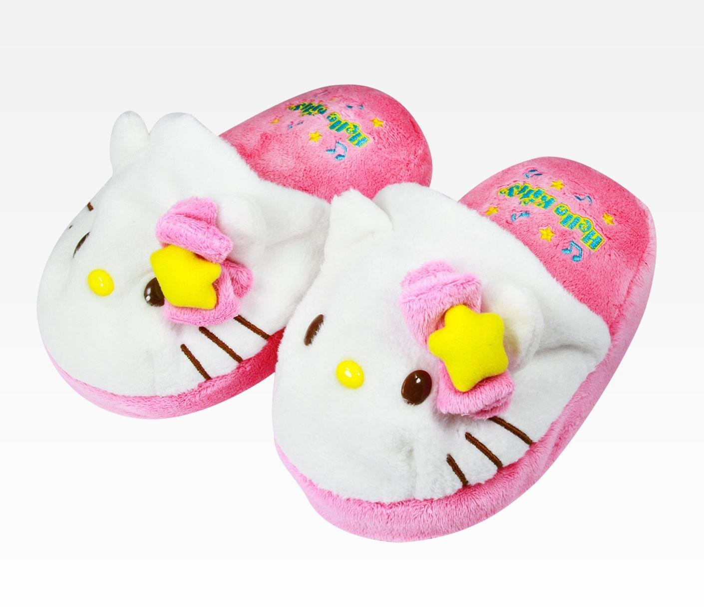 a1c5a4397 Get Quotations · Hello Kitty Kids Squeaky Kids Slippers: Melody (Small)  Kids Size 7-8