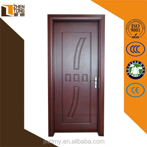Solid wood frame diamond cutting surface engraving new design oak solid wooden door