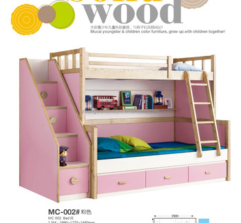 Simple Design Sleeping Bedroom Double Deck Bed For Kids ...