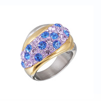 Online buying gold ring 18k solid gold ring silver puzzle ring