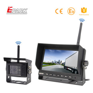 Trade Assurance backup camera wireless and mirror monitor kit for truck
