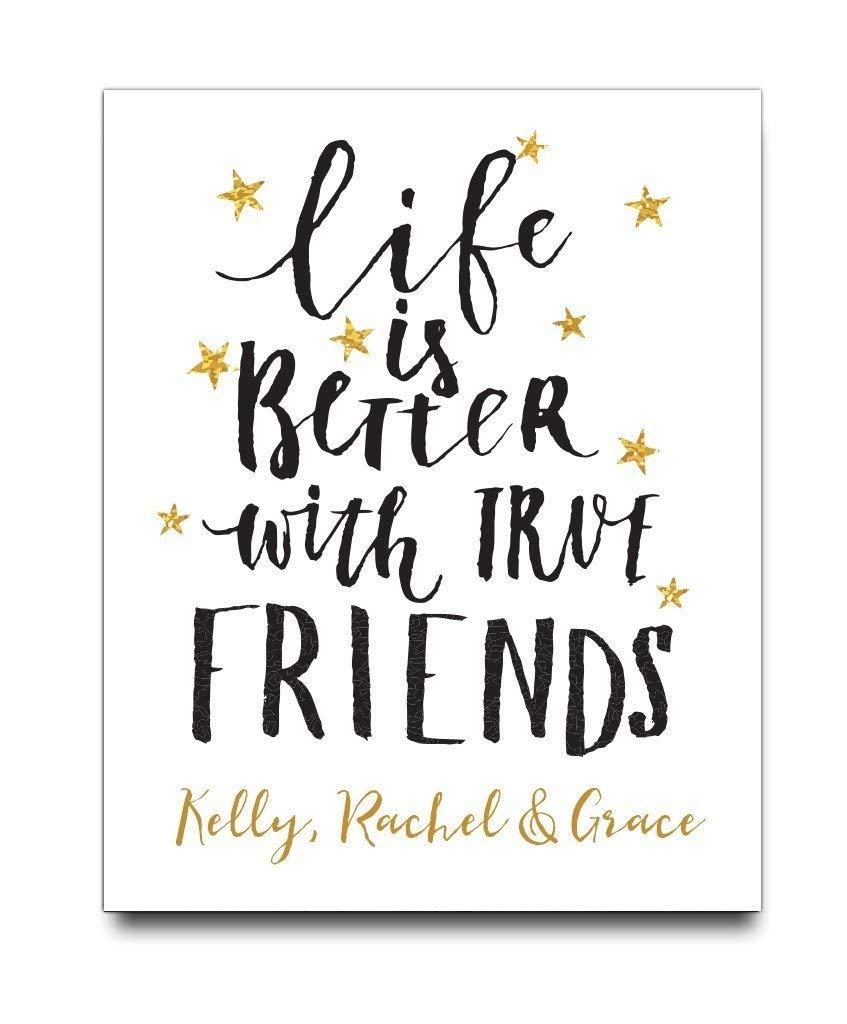 Get Quotations Personalized Friend Paper Art Print