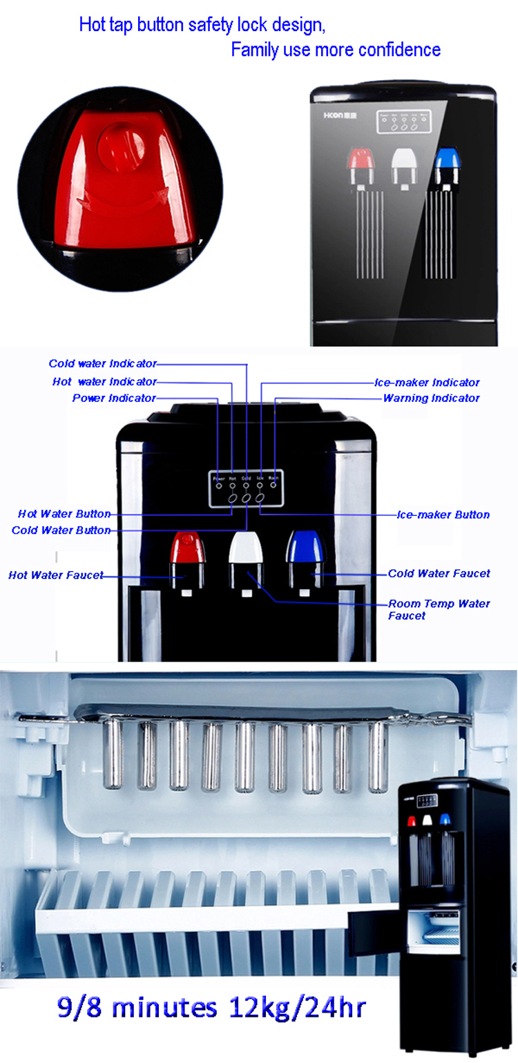 Household Ice Maker With Water Dispenser Portable Countertop Ice ...