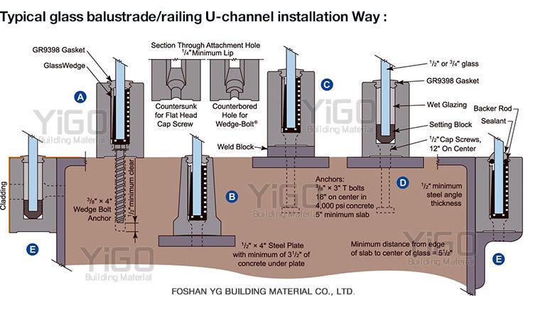 New Design Handrail Bracket Handrail Support Glass Railing ...