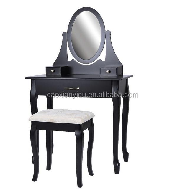 Nero Vanit? di Trucco set con Sgabello e Specchio in Camera Da Letto ...
