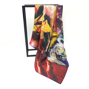 Ritzy women scarf digital printed satin silk turkey scarf