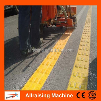 Termoplastik Yol Boyama Makinesi Işaretlemek Için Dışbükey çizgi