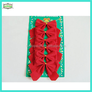 Red pvc christmas bowknot suppliers