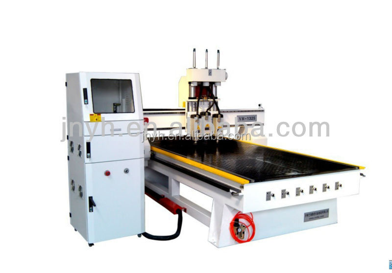 YHM25-A China good character Servo drive motor computer controlled wood carving machine
