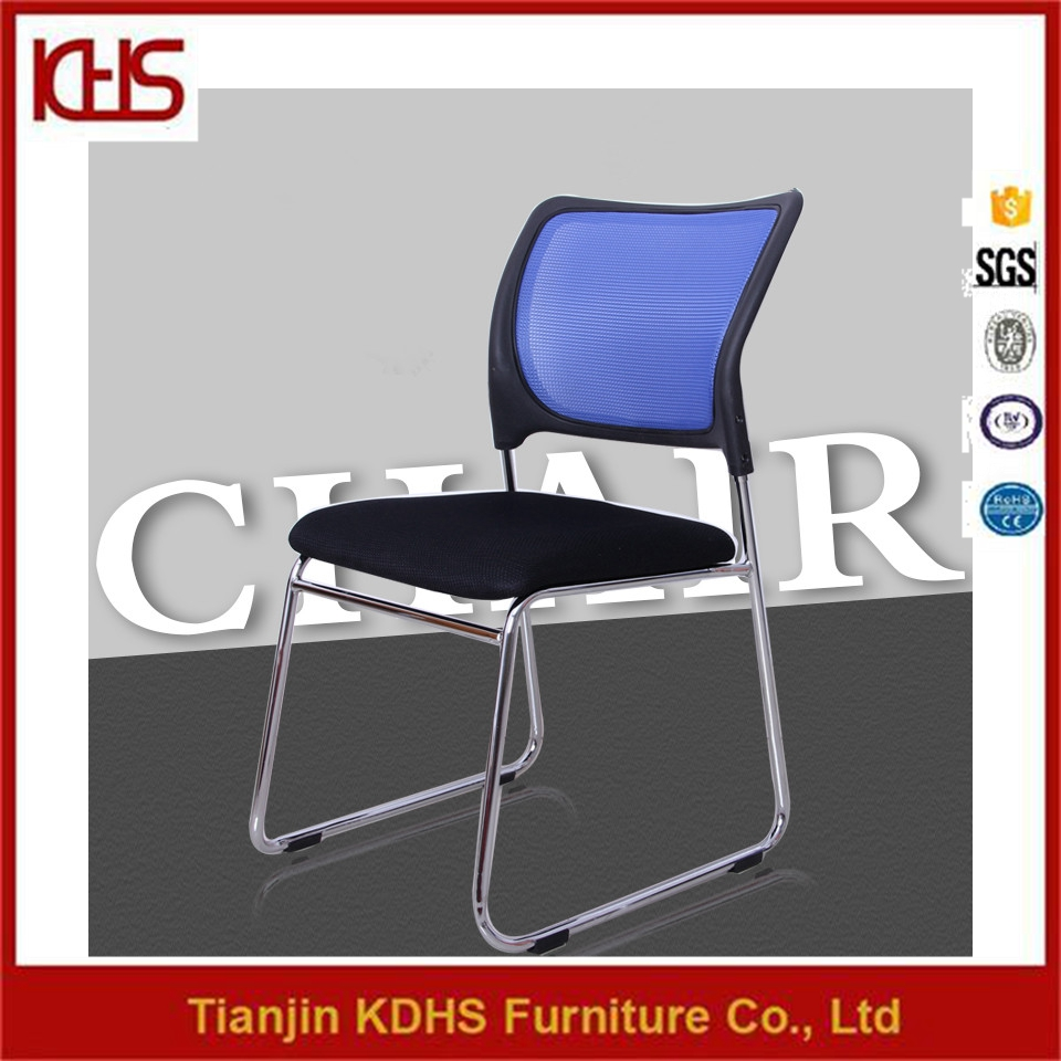 metal strong no wheels stackable office mesh back meeting chair