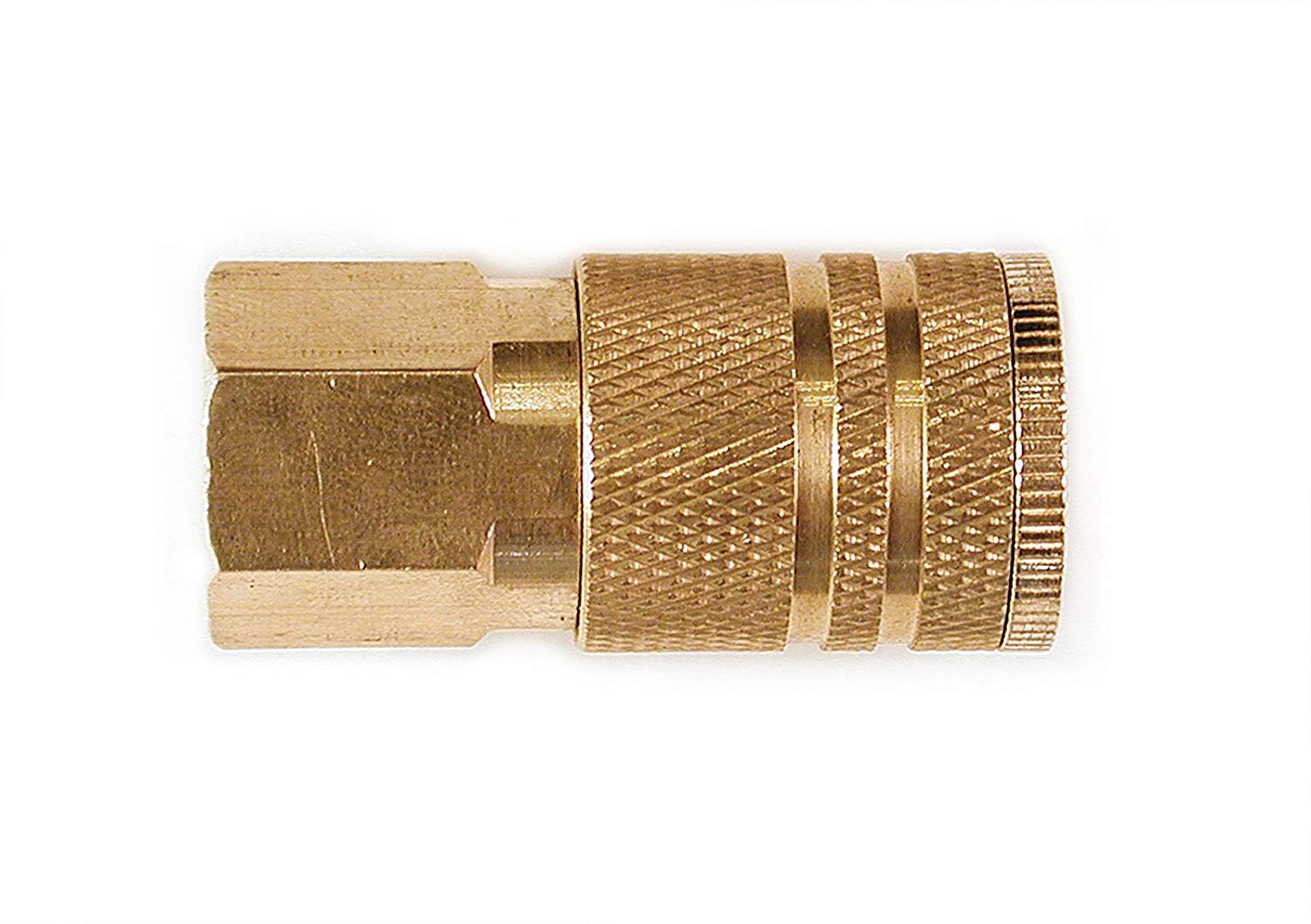 10-Piece Primefit IC1414MB6-B10-P 1//4-Inch 6-Ball Brass Male Industrial Coupler Contractor Pack