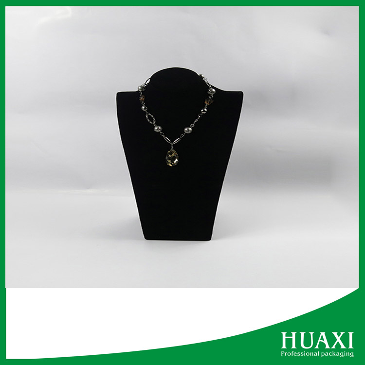 2016 super quality black bust necklace jewelry display
