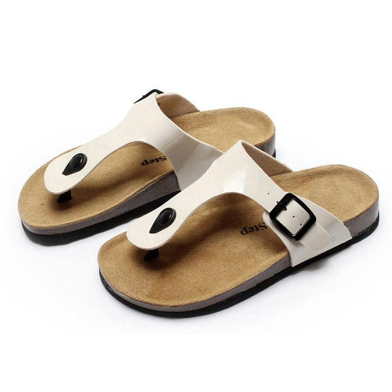 New-Loft Cow Leather Women Sandals 2018 Summer Women Shoes Fashion Casual Beach Shoes Woman Flat Sandals