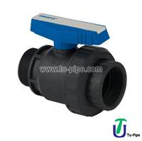 U-PVC One Side Female Threaded Other Side Male Threaded Single Ball Union Valve