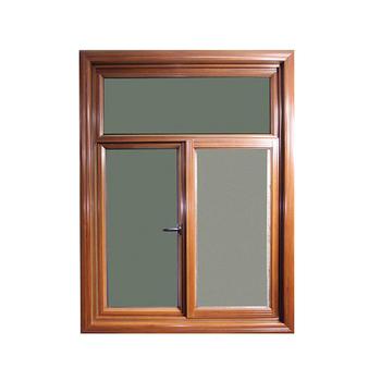 Color madera exterior abierta vidrio de aluminio ventana for Ventanas de aluminio color madera precios