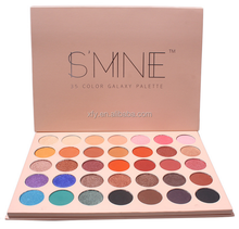 HOT SELLING OEM Private Label 35 Color Cardboard Makeup Eyeshadow Palette