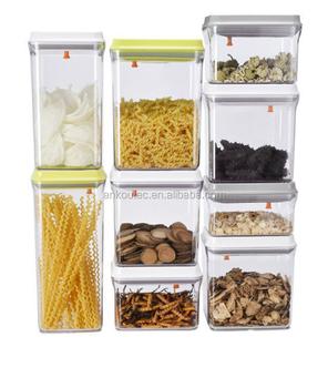 Eco Friendly Kitchen Set Food Grade Bpa Free Rectangle Plastic