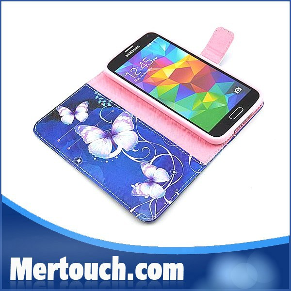 Butterfy Flower style Ultra thin slim pu leather case for Samsung Galaxy Note 3 leather case phone protector shockproof