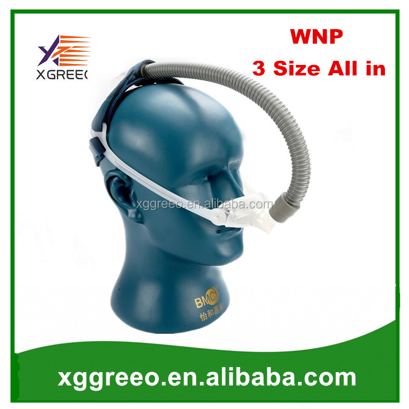 XGREEO WNP Nasal Pillow CPAP Mask Silicone Gel SML Size Cushion All In Medical Sleep Mask For Snoring Apnea Treatment With Belt