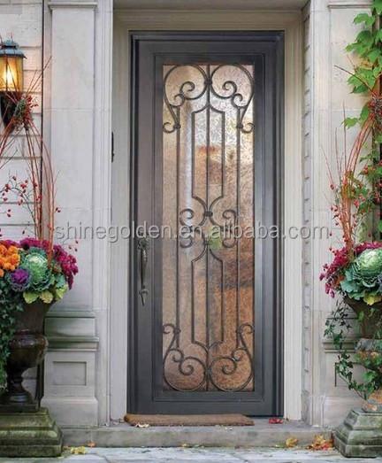 elegante entrada principal puerta de madera con vidrio gydd