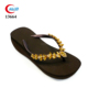 decorate ornament with gold rhinestone women wedge flip flops