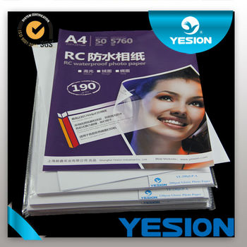 2014 Newest!A4 190g-260g rc stain photo paper manufacturer