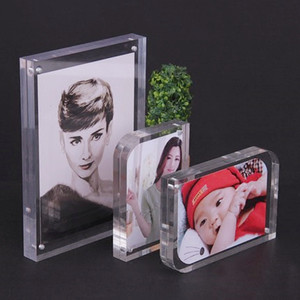 Hot sale clear 4 inch square acrylic photo frame