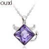 OUXI fashion gift jewelry series 10746/made with crystal alloy RH necklace