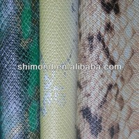 Popular Snake Skin Pattern 100% PVC Upholstery Leather