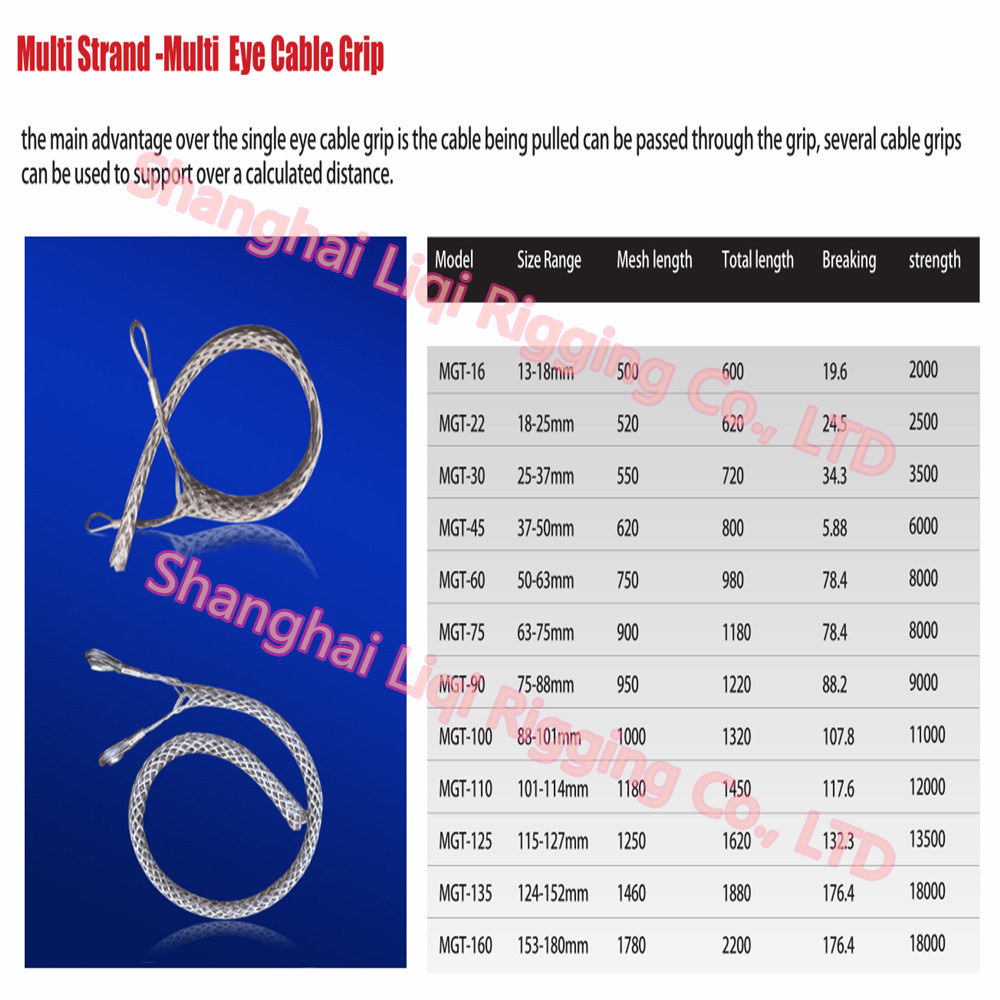 Towing Smooth Wire Mesh Grip Protecting Stainless Steel Cable ...