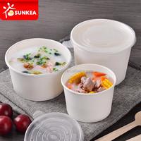 Take away disposable cheap paper soup bowl with lids