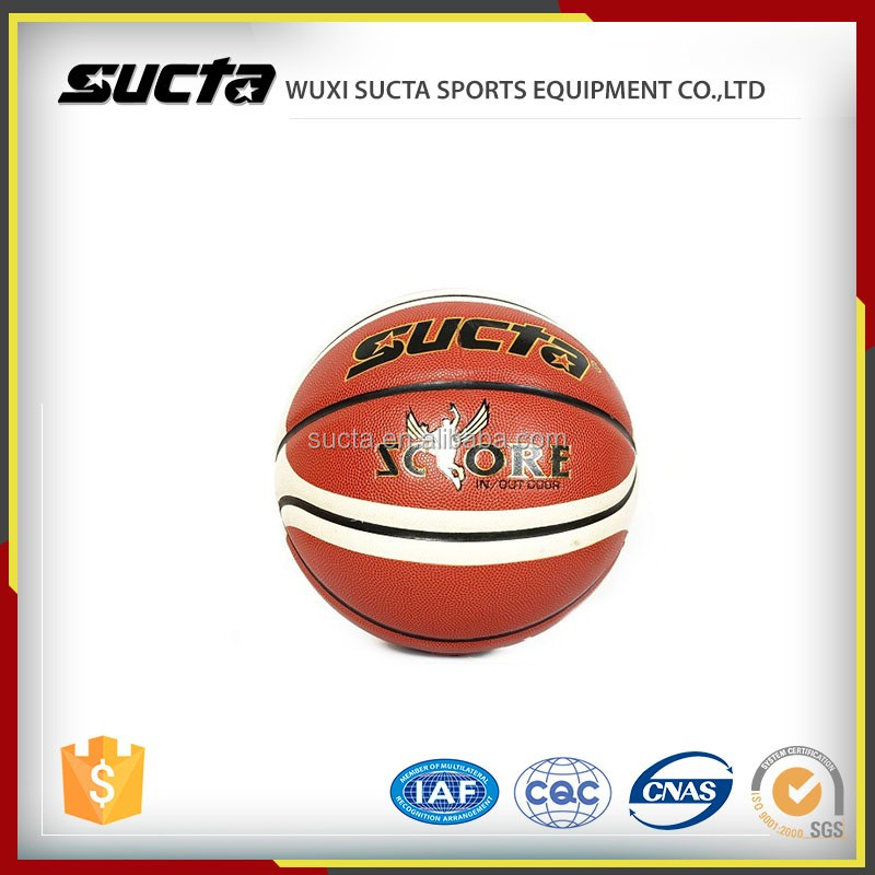 Durable basketball ball ST1032 with soft touch leather