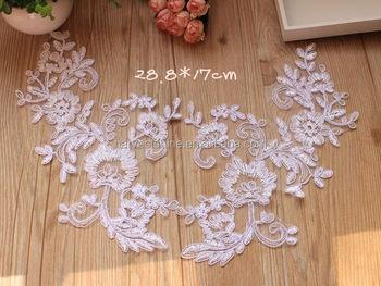 Pcs wholesale embroidered white color cotton lace neckline collar